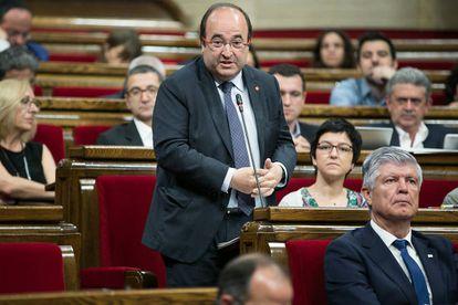 Miquel Iceta, este miércoles en el Parlament
