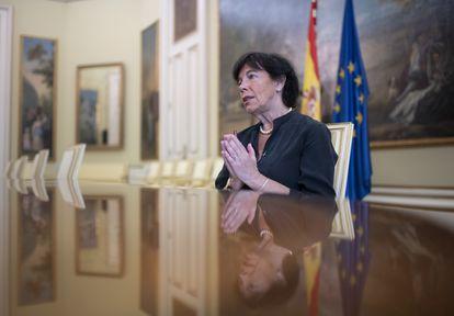 La ministra de Educación, durante la entrevista