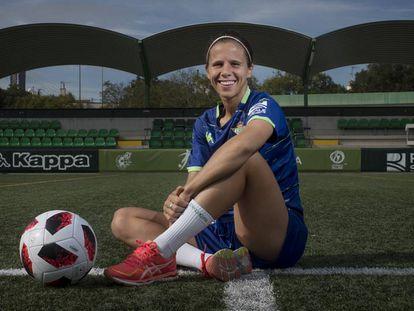 Marianela Szymanowski, en la ciudad deportiva del Betis.