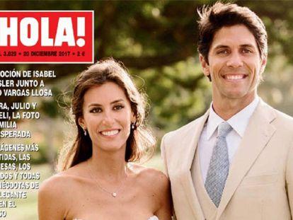 Ana Boyer y Fernando Verdasco en la portada de '¡Hola!' sobre su boda en el Caribe.