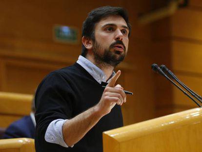 Ramón Espinar, este jueves en el Senado.