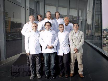 Miembros del Consejo Asesor Internacional del Basque Culinary Center, durante la reunión de Lima, en 2011.