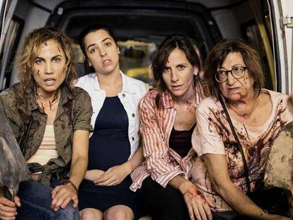 Las protagonistas de la serie 'Señoras del (h)ampa'.