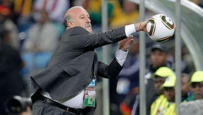 Vicente del Bosque, en la semifinal del Mundial de Sudáfrica contra Alemania.