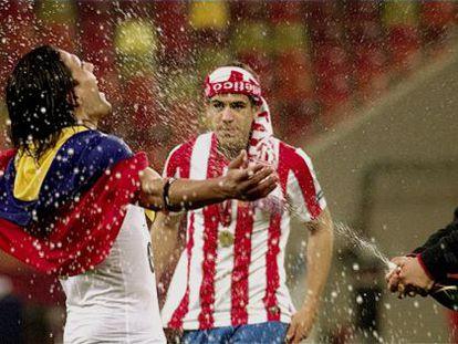 Fotograma de 'Informe Robinson' dondeFalcao celebra la victoria en la final de la Liga Europa