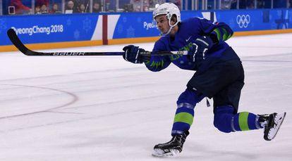 El jugador esloveno Ziga Jeglic, en una imagen del 17 de febrero.