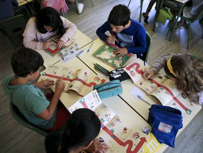 Alumnos de sexto de primaria del Colegio Las Naciones (Madrid).