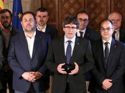 """El  president  argumentó que, tras el referéndum celebrado ayer, los catalanes se ha ganado el derecho a ser """"escuchados, respetados y reconocidos"""""""