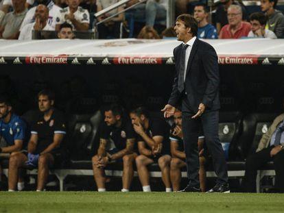 Lopetegui da instrucciones el partido ante el Espanyol