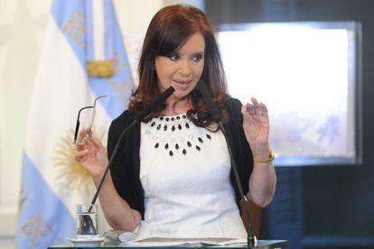 La presidenta argentina, Cristina Fernández