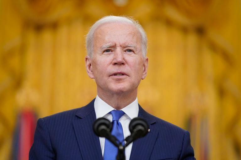 Joe Biden, during his speech at an event for International Women's Day, this Monday, March 8.
