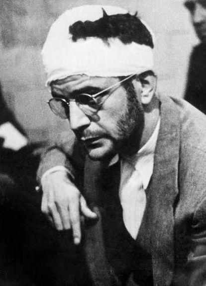 Ramón Mercader, tras su detención en México en 1940.