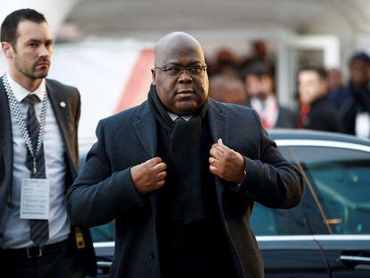 El presidente congolés Félix Tshisekedi llegando a la cumbre sobre inversión económica en África celebrada en enero de 2020 en Londres.