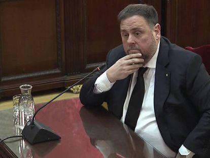 Oriol Junqueras, este jueves en su declaración ante el Tribunal Supremo. En vídeo, las frases del exvicepresidente de la Generalitat.