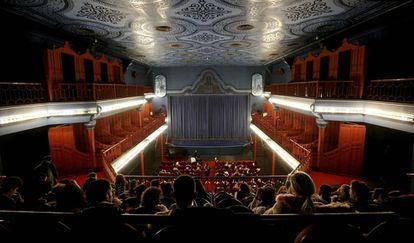 Sala del cine Doré, sede de la Filmoteca Española, ayer en Madrid.