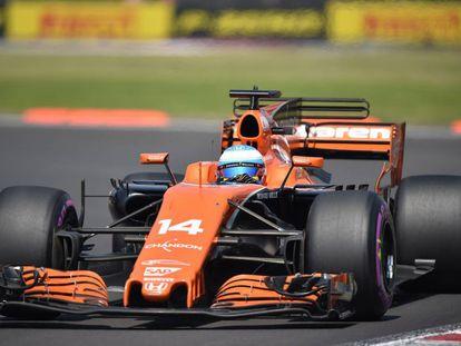 Fernando Alonso, en México.