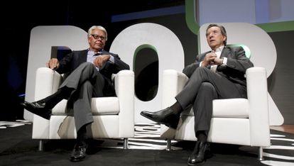 Felipe González (a la izquierda) e Iñaki Gabilondo, durante el debate.