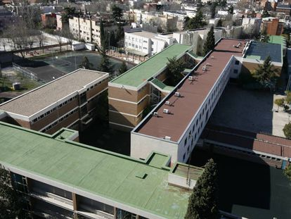 Imagen aérea del Colegio alemán, en febrero de 2009