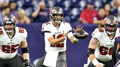 August 28, 2021: Tampa Bay Buccaneers quarterback Tom Brady (12) during the first quarter against the Houston Texans at NRG Stadium in Houston, Texas. . Mandatory Credit: Maria Lysaker / ZUMA Press. (Credit Image: © Maria Lysaker/ZUMA Press Wire)