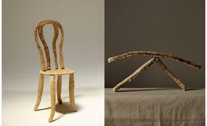 ¿Cambiar la madera por una barra de pan en la mítica silla 14 de Michel Thonet? Sí es posible, pero no te aconsejamos que tomes asiento.