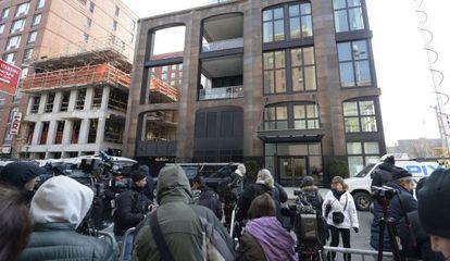 El edificio de Nueva York, en el que la diseñadora fue hallada muerta.