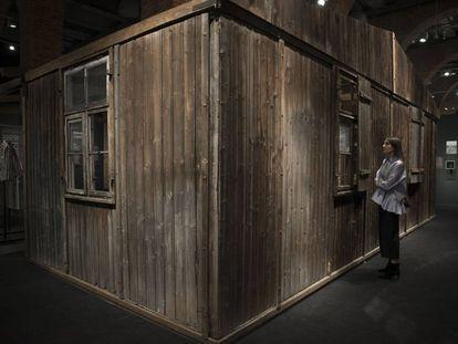 Uno de los barracones del campo de concentración.