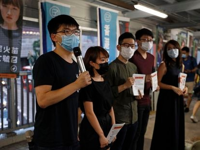 El activista hongkonés y antiguo líder estudiantil Joshua Wong, este viernes en Hong Kong.