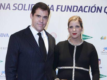 Luis Alfonso de Borbón y su esposa, Margarita Vargas, durante un acto en Madrid el pasado noviembre.