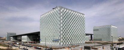 La nueva sede central de Telefónica situada en el distrito C, en Las Tablas, al norte de Madrid.