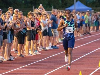 Caster Semenya, en una prueba de 800 metros disputada en junio en Alemania. STEFAN PUCHNER (GETTY)