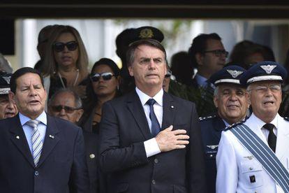 Bolsonaro en un acto militar este viernes en Brasilia.