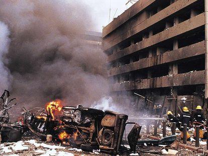Una imagen de 1998 cuando ocurrió un ataque bomba en la Embajada de EE UU en Nairobi (Kenia).