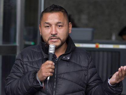 Pedro Carrizales en una conferencia en octubre.