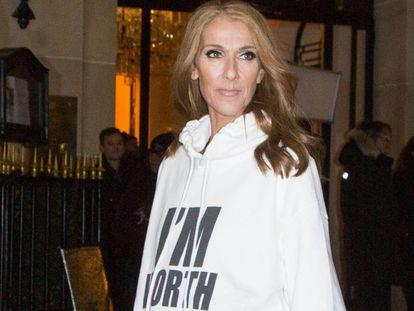 Céline Dion en París, el 30 de enero.