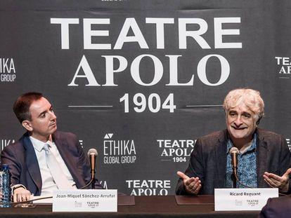 Sánchez-Arrufat y Ricard Reguant este martes en el Teatro Apolo de Barcelona.