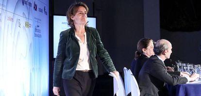 La Ministra de transición ecológica Teresa Ribera en la novena edición del Spain Investors en el Hotel Intercontinental.