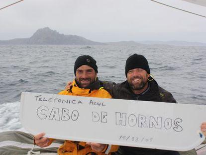 Xabi Fernández e Iker Martínez, pasando el Cabo de Hornos.