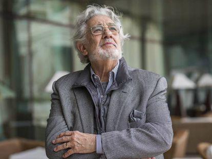Plácido Domingo en Valencia, en 2019. En vídeo, teatros y festivales cancelan las actuaciones que tenían programadas con Plácido Domingo.