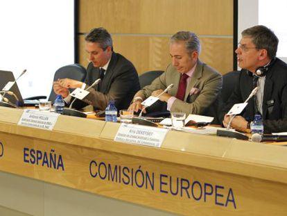 De izquierda a derecha, Sergio Balibrea, Antonio Millan y Kris Dekeyser.