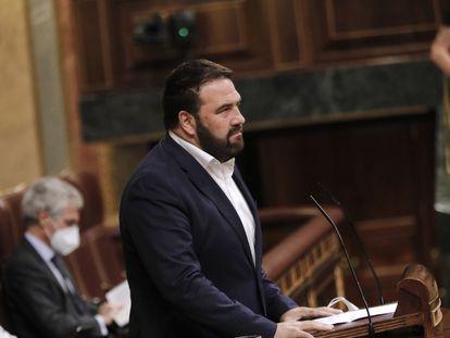 El diputado de EH Bildu Jon Iñarritu interviene en el pleno del Congreso el pasado 20 de septiembre.