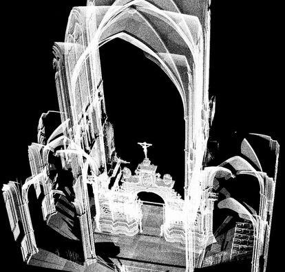 Escaneado del trascoro de la catedral de León.