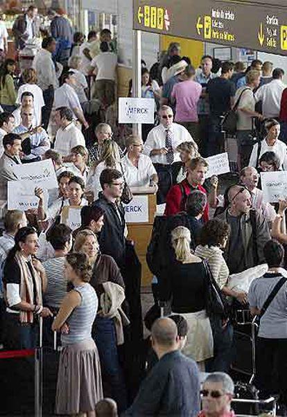 Asistentes al Congreso Mundial de Cardiología en Barcelona.