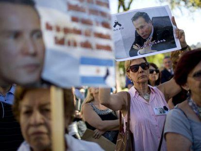 Protesta en Buenos Aires por el 'caso Nisman'.
