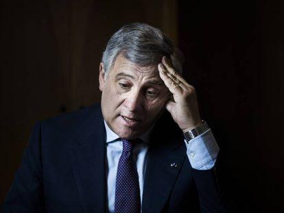 Antonio Tajani, presidente del Parlamento Europeo, durante un viaje a Madrid.