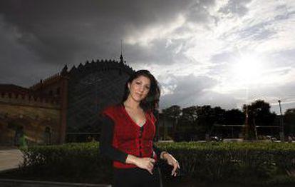 La cantante Joana Jiménez en Sevilla.