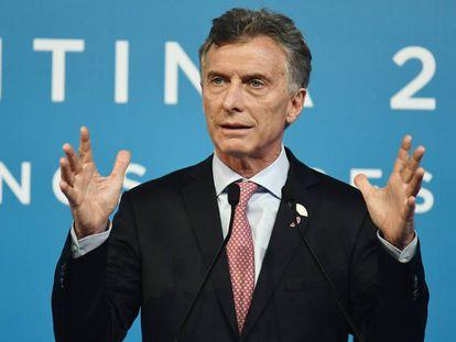 El presidente argentino, Mauricio Macri, durante la reunión del G20.