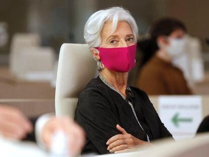 Christine Lagarde, presidenta del BCE, en París el pasado octubre.