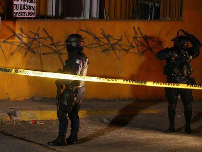 Policías en Tepic tras la muerte del líder de los Beltrán Leyva el viernes
