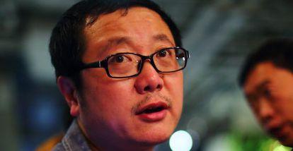 El escritor de ciencia ficción chino Liu Cixin.
