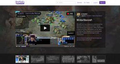 Imagen de la portada de Twitch, con un tutorial del popular videojuego Starcraft.